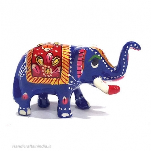 Metal Painted Elephant 1.5 inch Height - Pack of 2pc