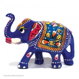 Metal Painted Elephant 2 inch