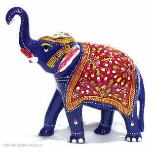 Metal Painted Elephant 5 inch Height