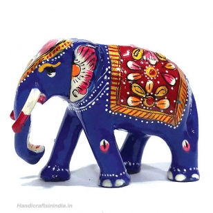 Metal Painted Trunk down Elephant 3 x 2.5