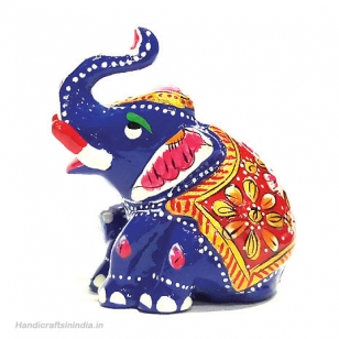Metal Appu Elephant Painted 2.5 inch Height