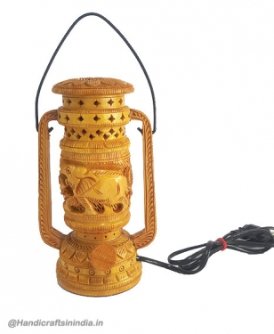 Wooden Carved Lantern Lamp