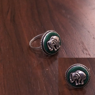 German silver Elephant Ring