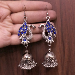 Peacock Earrings – Blue