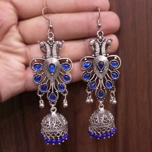 German silver Peacock Earrings – 2777