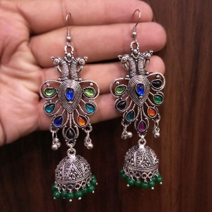 German silver Peacock Earrings – 2779