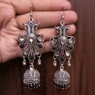 German silver Peacock Earrings – 2780