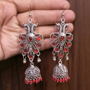 German silver Peacock Earrings – 2781
