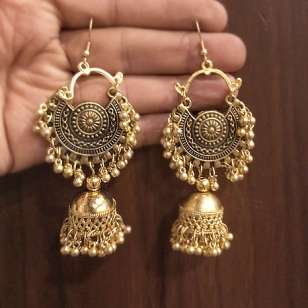 Jhumka Earring Golden