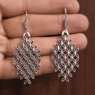 Beautiful Silver Oxidised Earring
