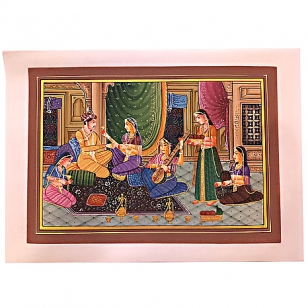 Mughal Painting on Silk