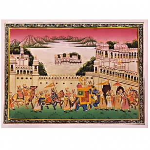 Mughal Procession Painting
