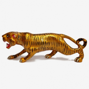 Metal Painted Tiger 7.5 inch Length