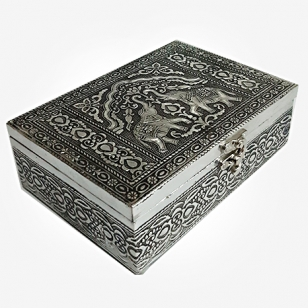 Silver Oxidised Dry Fruit Box