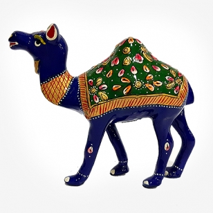 Metal Painted Camel Statue 5 inch