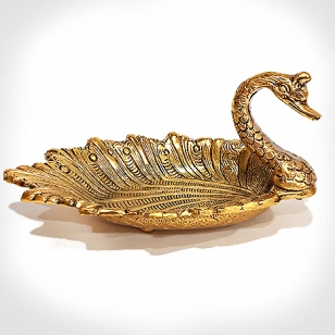 Metal Duck Bowl Gold
