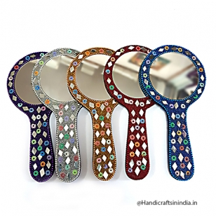 Colorful Lac Hand Mirror Big
