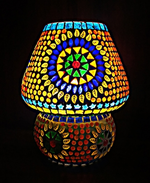 Vibrant Mosaic Lamp - Big