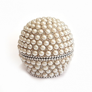 Ball Shaped Pearl Lac Box - Pack of 2pc