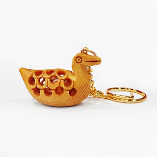 Wooden Swan Keychain - Pack of 12pc
