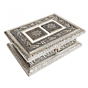Wooden Silver Design Dry Fruit Box
