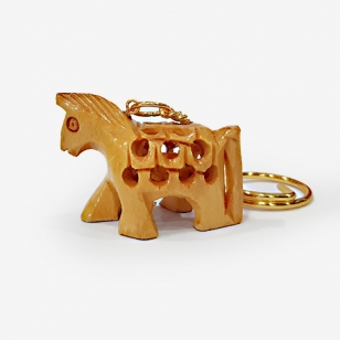 Wooden Key Chain - Horse Undercut (Pack of 12pc)