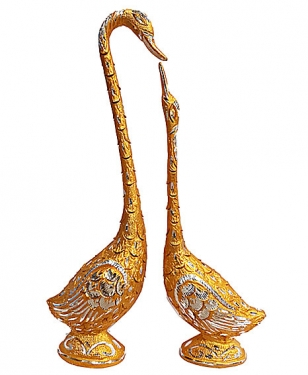 Love Bird Swan Pair Showpiece