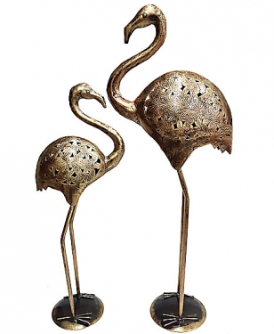 Metal Duck Pair Showpiece for Home & Garden