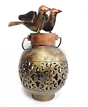Home Decor Metal Tea Light Holder - Sparrow Design