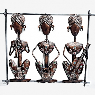 Metal Wall Decor Tribal Frame
