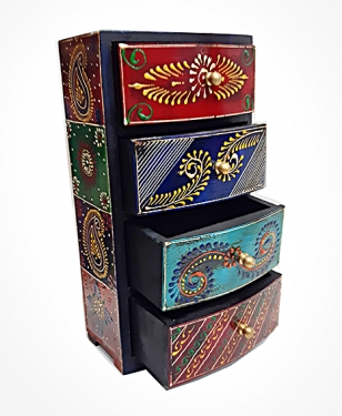 Wooden Hand Painted Drawer
