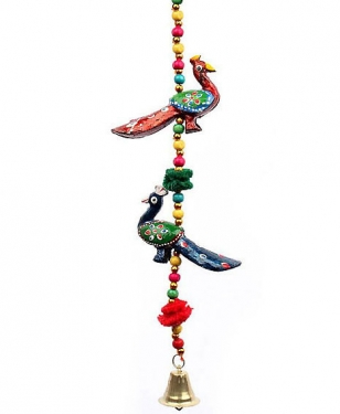 2 Peacock Hanging Toran - Pack of 6pc