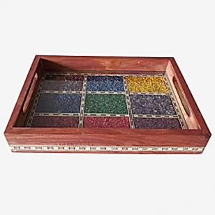 Gemstone Serving Tray 25cm x 17.5cm