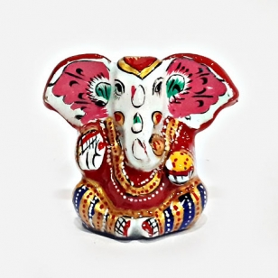 "Metal Painted Appu Ganesha 2"" Inch"