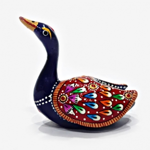 Metal Meenakari Painted Duck