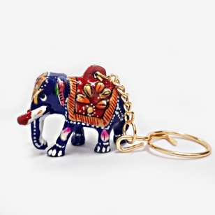 Meenakari Elephant Key ring - Pack of 6pc