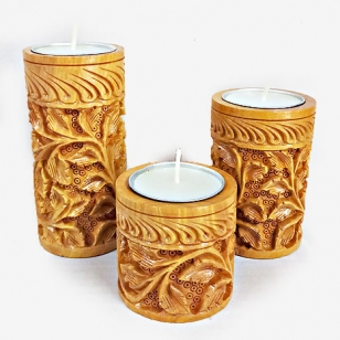 Handmade Candle Holder set of 3pc