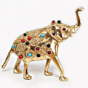 Brass Decorative Elephant Statue