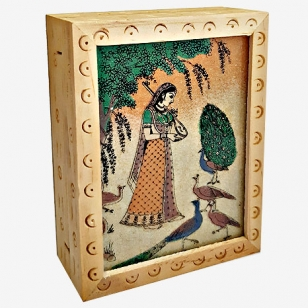 Wooden Carving Box 4x3 (Pack of 2pc)