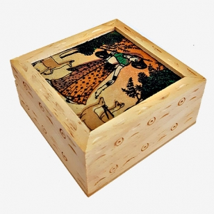 Gem Painting Wooden Box - Pack of 2pc