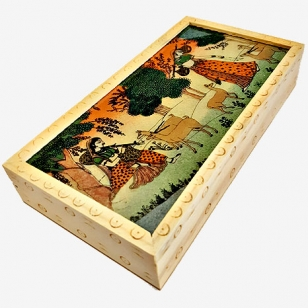 Precious Gemstone Painting Jewellery Box