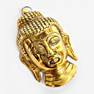 Metal Hanging Buddha (Golden) - Pack of 2pc
