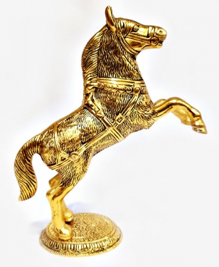 Metal Jumping Horse (Gold)
