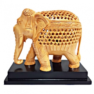 Wooden Elephant 6 inch on Base
