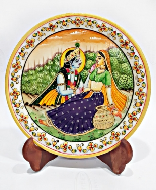 Marble Painting of Radha Krishna
