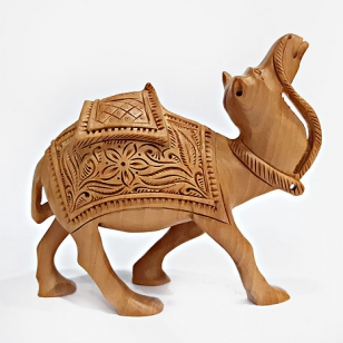 Wood Carving Camel (5 Inch Height)