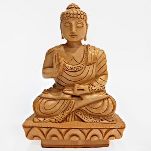 Hand Carved Buddha Statue (15 cm Height)