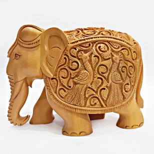 Wood Carving Elephant - Masterpiece
