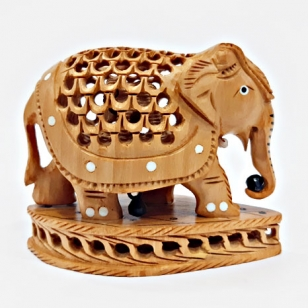 Elegant Undercut Elephant – 8cm Height