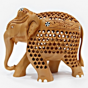 Undercut Elephant Statue (13cm Height)